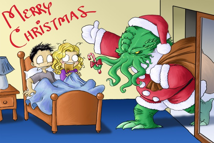 Santa_Cthulhu_Comes_to_Town_by_DrChrissy