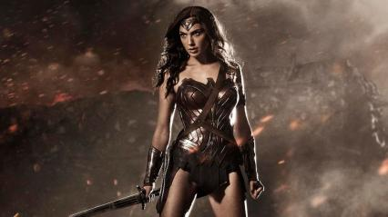 Gal Gadot as Wonder Woman/Photo courtesy of Warner Brothers, released via director Zack Snyder's Twitter account as media announcement 7/27/2014